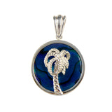 Palm Tree Sea Opal Pendant (Needs Pricing) - Lone Palm Jewelry