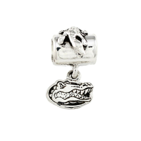 19105 - Small Gator Head Logo Charm & Alligator Bail Bead - Lone Palm Jewelry