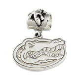 19107 - Large Gator Head Logo Charm & Alligator Bail Bead - Lone Palm Jewelry