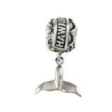 HAWAII Bead with Whale Tail Dangle - Lone Palm Jewelry