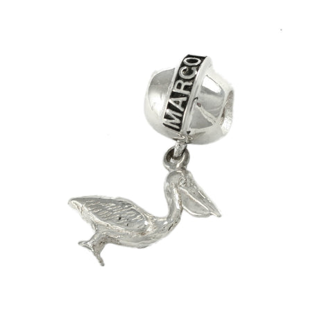 MARCO ISLAND Bead & Pelican Dangle - Lone Palm Jewelry