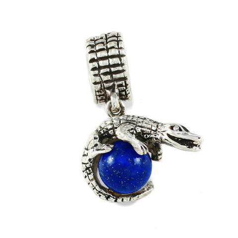 Gator Wrapped Around Blue Lapis - Lone Palm Jewelry