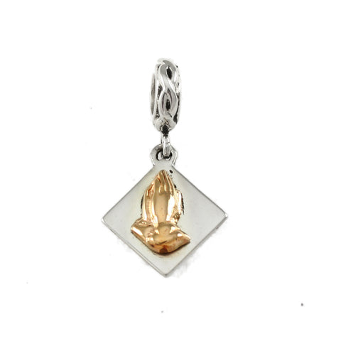 14kt Praying Hands Dangle - Lone Palm Jewelry
