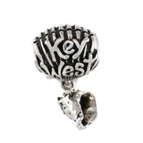 """Key West"" Shell Bead Bail with Conch Dangle - Lone Palm Jewelry"