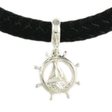 Pipeline Ship Wheel & Sail Boat Dangle - Lone Palm Jewelry