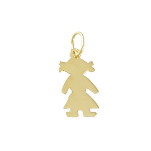 "1 1/8"" Engravable Girl Outline - Lone Palm Jewelry"