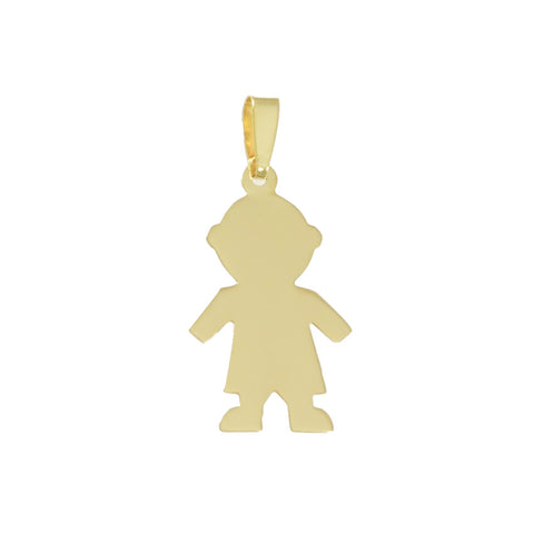 "1 1/8"" Engravable Boy Outline - Lone Palm Jewelry"