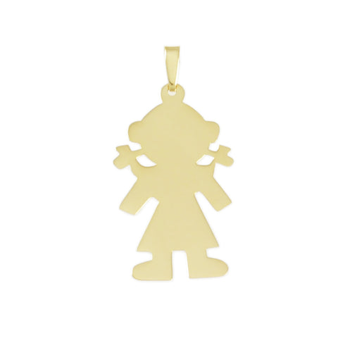 "1 1/2"" Engravable Girl Outline - Lone Palm Jewelry"