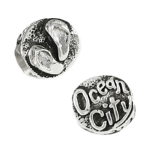 OCEAN CITY & Flip Flop Sandals Bead - Lone Palm Jewelry