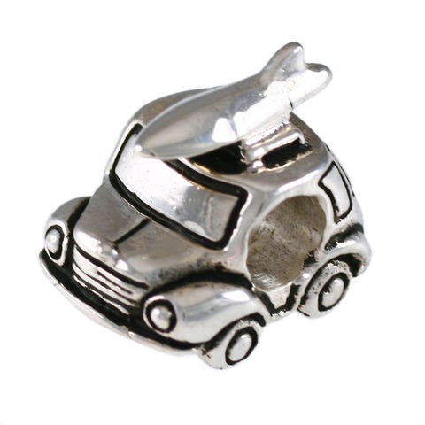 Volkswagen Beetle with Surfboard Bead - Lone Palm Jewelry