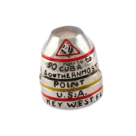 Enameled Southernmost Point Buoy Key West Bead - Lone Palm Jewelry
