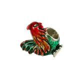 Enameled Chicken Bead - Lone Palm Jewelry