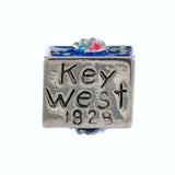 Conch Republic Flag with Enameled Key West - Lone Palm Jewelry