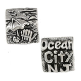 OCEAN CITY, NJ Beach Scene Bead - Lone Palm Jewelry