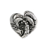 "I ""heart"" Sanibel Heart Bead with Palm Tree Scene - Lone Palm Jewelry"