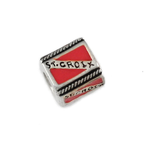 ST CROIX Diver Flag Bead - Lone Palm Jewelry