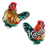Kauai Hawaii Rooster Enameled Bead - Lone Palm Jewelry