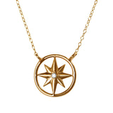 21160 - Diamond Compass Rose Petite Necklace