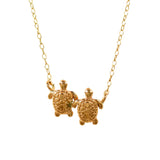 21165 - Twin Turtle Petite Necklace