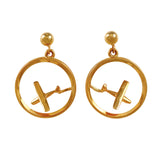 30121/2 - Aircraft in Frame Earrings (High Wing or Low Wing Available)