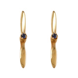30165 - Propeller Stud Earrings with Sapphire
