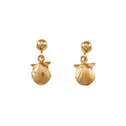 30210 - Scallop Shell Post Earrings