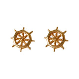 30221 -Ship's Wheel Stud Earrings