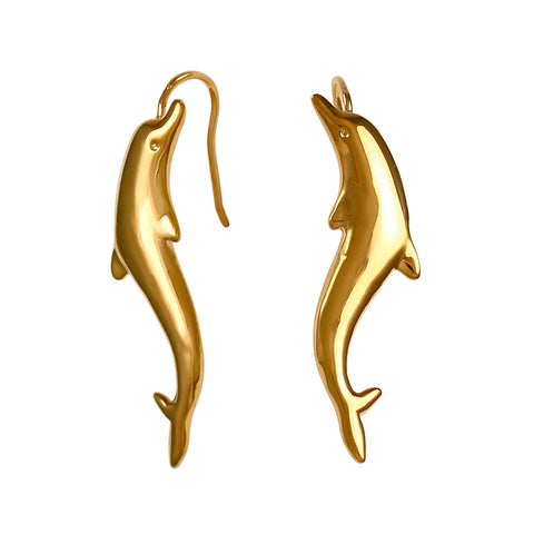 30263 - Hollow Dolphin Wire Earrings