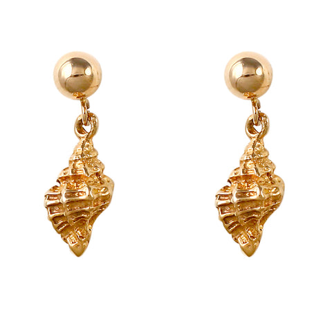 30229 - Dangling Frog Shell Post Earrings