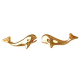 "30271 - 1/2"" Whale Stud Earrings"