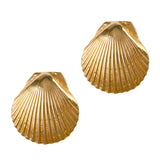 "30286 - 7/8"" Scallop Shell Post Earrings"