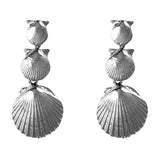 "30290 - 1 1/2"" Dangling Scallop Shell Earrings"