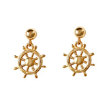30292 - Ship's Wheel Drop Post Earrings