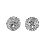 "30321 - 7/16"" Sand Dollar Stud Earrings - Raised Center - Lone Palm Jewelry"