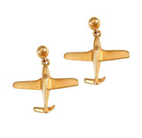30375 - Bonanza Aircraft Post Earrings