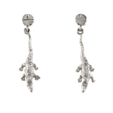 "1 1/4"" Sterling Gator Dangle Earrings with Pell Logo Post - Lone Palm Jewelry"