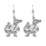 "30526 - 1 1/4"" Sterling Albert Gator Dangle Earrings"