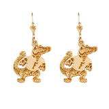 "30527 - 1"" Albert Gator Dangle Earrings"