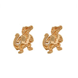 "30530 - 3/8"" Sterling Albert Gator Stud Earrings"