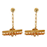 30605 - Wright Flyer Dangle Post Earrings