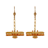 30611 - Wright Flyer Dangle Leverback Earrings