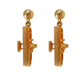 30612 - Wright Flyer Vertical Post Earrings