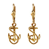 "30639 -  11/16"" Fouled Anchor Earrings"