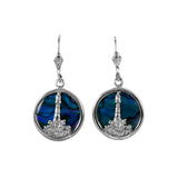 Lighthouse and Wave Sea Opal Earrings (Needs Pricing) - Lone Palm Jewelry