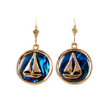 Sailboat Sea Opal Earrings (Needs Pricing) - Lone Palm Jewelry