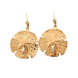 "30710d - 1 1/16"" Sand Dollar Earrings with Diamonds"