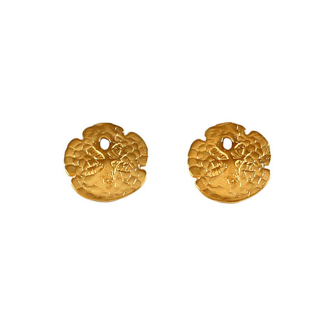 "30711 - 3/8"" Sand Dollar Stud Earrings"