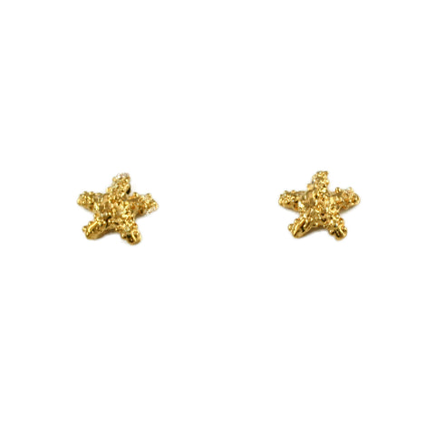 "1/4"" Nubby Starfish Stud Earrings - Lone Palm Jewelry"
