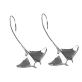 "30736 - 1 5/8"" Manta Ray Wire Earrings"