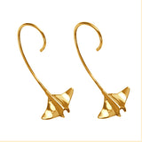 "30737 - 1 1/2"" Manta Ray Wire Earrings"